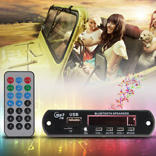Bluetooth Car Stereo Remote Control LED MP3 Player Decoder Board SD/USB/AUX/FM