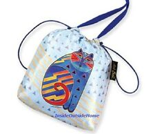 Laurel Burch Zig Zag Cat Drawstring CrossBody Bag Makeup Gift Jewelry Pouch