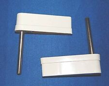 Williams Pinball Machine Flipper Caps & Shafts - White Color - Set of 2