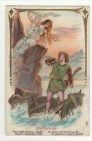 Die Loreley Germany Vintage Embossed Greetings Postcard  US131