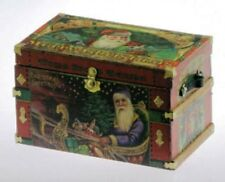 Dollhouse Miniature Trunk Kit -- Lithograph Christmas / Santa -- 1:12 Scale