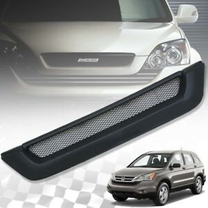 Matte Matt Black Front Net Grille Grill For Honda CR-V Crv 2007 08 09 10 11