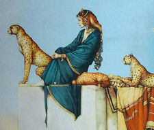 "FANTASY 32""x24"" HIGH QUALITY WOVEN WALL HANGING TAPESTRY: SUDAN'S CHEETAH ="