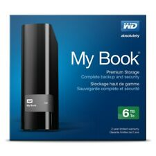 WD My Book 6 To External Desktop Hard Drive Disk USB 3.0 WDBFJK 0060HBK-Noir