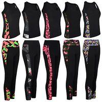 Ladies Gym Sport Vest or Leggings Women Active Wear Tight Top Yoga Pants S-XL