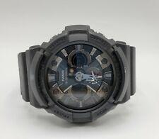 Casio G-Shock GA-201 Men's Watch Black on Black Multifunction