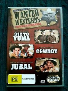 WANTED WESTERNS - 3.10 to YUMA + COWBOY  + JUBAL - 3 DISC SET - REG. 4
