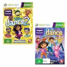 Xbox 360 Nickelodeon Dance & Nickelodeon Dance 2 (Kinect Required) Brand New