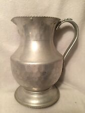 Vintage Cromwell Hand Wrought Hammered Aluminum Pitcher