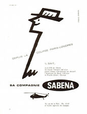 1959 : SABENA Belgian Airlines - French Ad, Helicopter