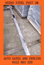 Security Fence Panels Black Steel Post 65x65x3m