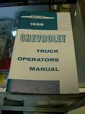1958 Chevrolet Truck Owners Manual For Glove Box (Fits: Truck)