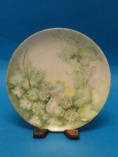 """ANTIQUE KPM HAND PAINTED PLATE c. 1905 ~ 8.25"""" * Krister Porzellan-Manufaktur"""