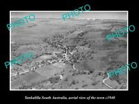 OLD LARGE HISTORIC PHOTO OF YANKALILLA SA, AERIAL VIEW OF THE TOWN c1940