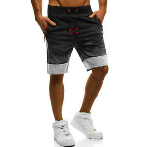 Camouflage Sports Shorts Mens Pants Active Joggers Running Trousers Sportswear