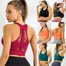 Women Seamless Yoga Bra Padded Sports Crop Tops Fitness Racerback Gym Underwear
