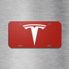 Tesla Vehicle Front License Plate Auto Car Red Model 3 Model X S Electric NEW