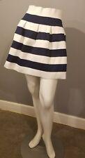 NWOT Neslay Designer Striped Blue and White High Waist Skirt Size M