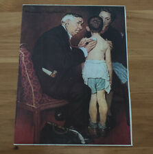 """Signed Norman Rockwell  """"Inhale/Exhale The Family Doctor"""""""