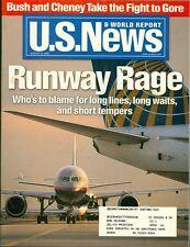2000 U.S. News & World Report Magazine: Runway Rage in Airports/Bush & Cheney