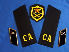 SOVIET collar tabs patch shoulder boards chevron Artillery ARMY USSR UNIFORM