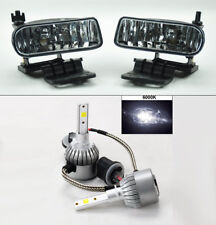Chevy Silverado Tahoe Suburban Escalade Clear Front Fog Lights w/ 36W LED Bulbs