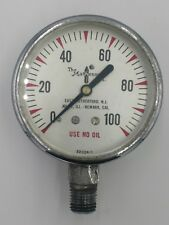 Vintage Beveled Glass MATHESON 100 PSI PRESSURE GAUGE Steam Punk 22024-1