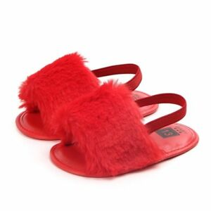Zapatos De Bebe Calzado Para Niñas Sandalias Pelaje Recién Nacidos Baby Sandals
