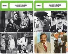 FICHE CINEMA x2 : JACQUES MARIN DE 1950 A 1991 -  France (Biographie/Filmo)