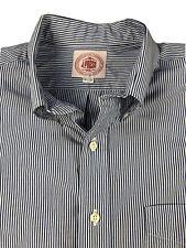 J Press Blue Striped Dress Shirt Size 16.5 - 32