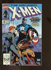 UNCANNY X-MEN #268 NM- 9.2 JIM LEE ART / CAPTAIN AMERICA / BLACK WIDOW 1990