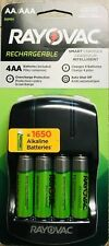 RAYOVAC Rechargeable Smart Charger AA & AAA Batteries NEW (4 AA's Included!)