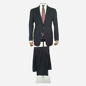 Ralph Lauren Purple Label Suit. Pinstripe Wool Cashmere. Size 46 UK, 56 IT Long
