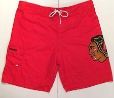 Chicago Blackhawks NHL Mens Swim Trunks XL Red Board Shorts Calhoun