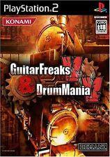 Used PS2 KONAMI Guitar Freaks V & Drum Mania V SONY PLAYSTATION JAPAN IMPORT