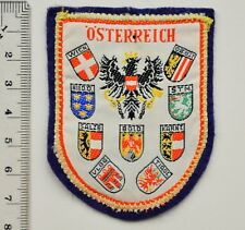 Vintage Souvenir Patch, Badge Of Osterreich With Coat Of Arms
