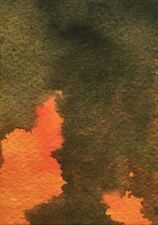 """SUNSET AT DUSK ABSTRACTION Watercolor ACEO Painting 3.5""""x 2.5"""" Julia Garcia  NEW"""