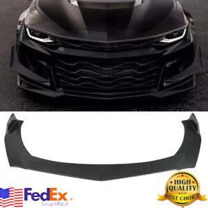 Carbon Style For Chevy Camaro Chevrolet 15-20 Front Bumper Lip Spoiler Splitter