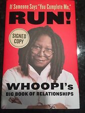"WHOOPI GOLDBERG SIGNED Book  IF SOMEONE SAYS ""You Complete Me,"" RUN! Autographed"