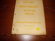 Massey Ferguson MF 202/204 Forklift Parts Manual Catalog FM# 651 088 M92