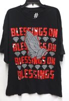 Take That Big Mens Size 3XL Black Blessings on Blessings Graphic T Shirt New