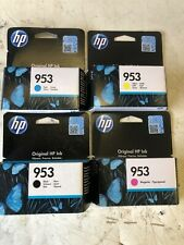hp 953 ink cartridges New sealed Black, Yellow, Cyan and Magenta