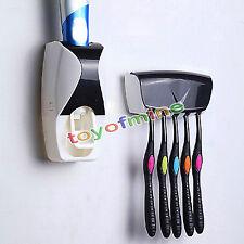 5 Cepillo de dientes titular Dispensador AUTOMÁTICO PASTA DE DIENTES rack Set