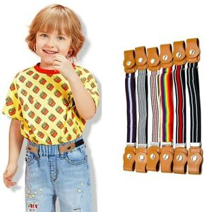 15 Styles Child Buckle-Free Elastic New Belt No Buckle Stretch Belt for Kids