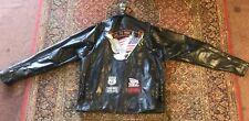 Men's 4x Diamond Plate Buffalo Leather Live To Ride Leather Jacket NWT