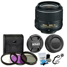 Nikon AF-S DX NIKKOR 18-55mm VR II Lens + 3 Piece Filter Kit + Accessory Kit NEW