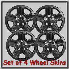 "Black Jeep Wrangler Wheel Skins 16"" Hubcaps 2013-2014 Black Wheel Covers"