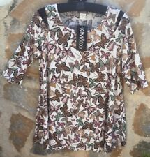 Kim & Co Cold Shoulder Top Size Large In Ecru BNWT