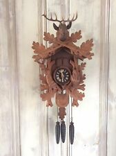 """BLACK FOREST GERMANY HUNTER STYLE MUSICAL CUCKOO CLOCK Thorens Music 18"""" X 10"""""""
