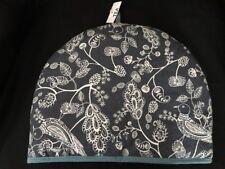 NOW DESIGN Tea Cozy Cosy Paisley Blue Bird Floral white Toile 100% Cotton Quilt